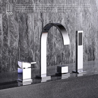 Full copper bath faucet faucet type cold hot air type cylinder side side bath faucet