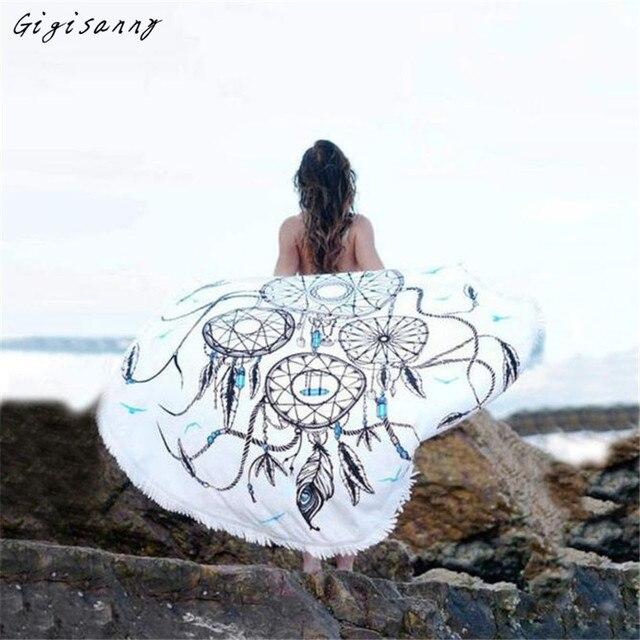 Dreamcatcher Печатные Женщины Пляж Cover Up Бикини Boho Платье Купальники Купальник Пляжное Полотенце Бесплатная Доставка, Январь 17