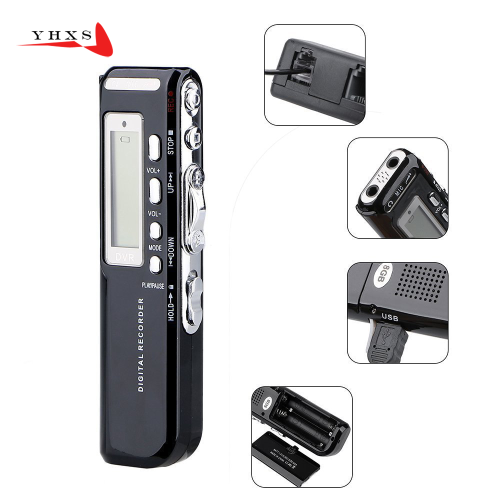 Portable 8gb Mini Digital Audio Voice Recorder Dictaphone Mp3 Wav Sony Tx800 Tx Series Player Recording Pen Rechargeable Model Pk T60 In From