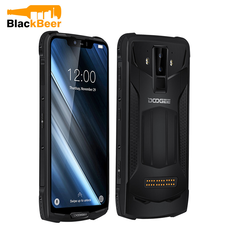 DOOGEE Celular S90 IP68 IP69K Rugged Mobile Phone 6.18 polegada Display IPS 5050mAh MT6771 6 Octa Núcleo 128GB GB Android 8.1 16.0MP