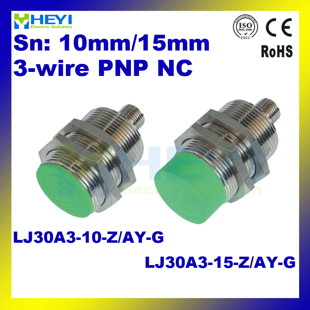 3 wire M30 NC PNP air plug inductance sensor switch LJ30A3 10 Z AY G LJ30A3 aliexpress com buy 3 wire m30 nc pnp air plug inductance sensor Hall Effect Switch at gsmx.co