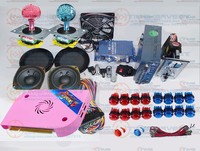 Arcade parts Bundles kit With 1300 in 1 Pandora Box 6 multi games LEDJoystick 5V LED illuminated button Cables Coin acceptor