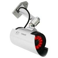 Großhandel 4 Stücke Outdoor Gefälschte/Dummy Überwachungskamera mit 30 Beleuchtung LED-Licht (Silber) Videoüberwachung