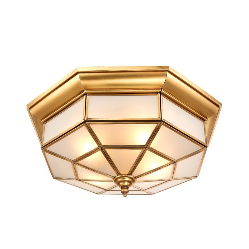 Simple european style copper ceiling lamps aisle bedroom - Waterproof bathroom ceiling lights ...