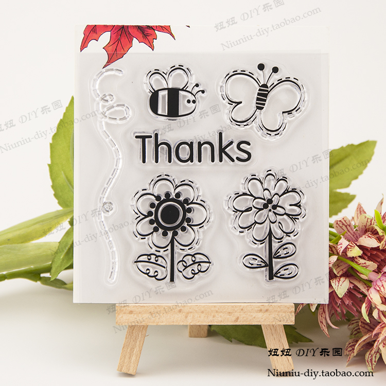 Animal Bee Flower Clear stamp Scrapbook DIY photo cards account rubber stamps clear transparent seal handwork art gift купить