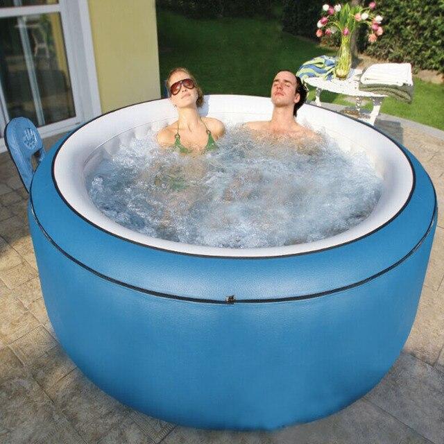 Mspa Inflatable Massage Bathtub Swimming Pool Natatorium 4 People