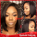 Free Shipping Cheap Brown Bob Straight Hair Glueless Brazilian Synthetic Lace Front Wig Heat Resistant Cute Wigs For Black Women