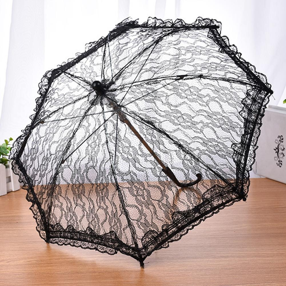 Image 3 - Wedding Flower Girl Lace Umbrella European And American Style Bride Decoration Umbrella Trumpet Photography Props-in Umbrellas from Home & Garden