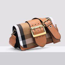 Женские Роскошные сумка Crossbody Сумочка из натуральной кожи сумка слинг Повседневное Сумка Британский решетки сумка