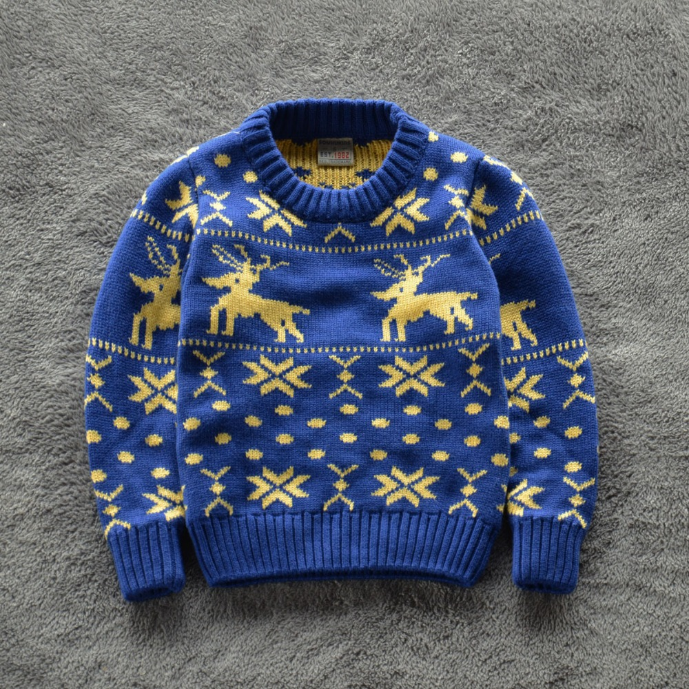 Knitting Designs In Two Colours : New baby boy christmas sweaters kids infant sweater