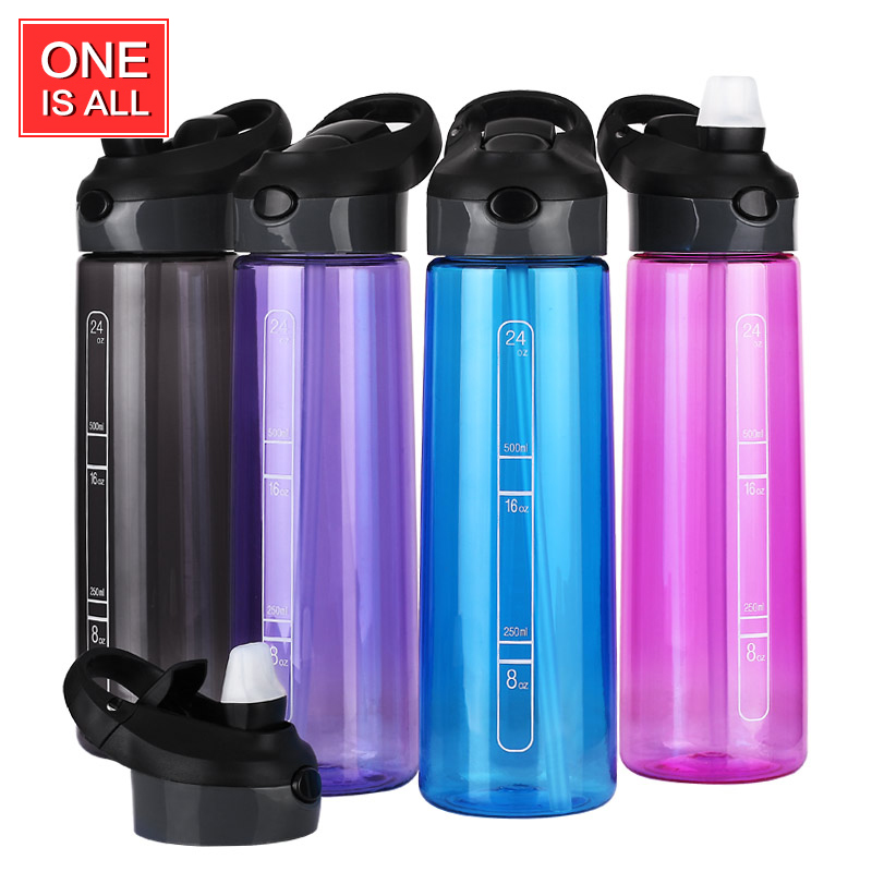 700ML TRITAN <font><b>LARGE</b></font> <font><b>Capacity</b></font> My Bottle <font><b>Drink</b></font> Water Bottle with Straw Handy BPA Free Glass Teacup Portable Water Travel Bottle