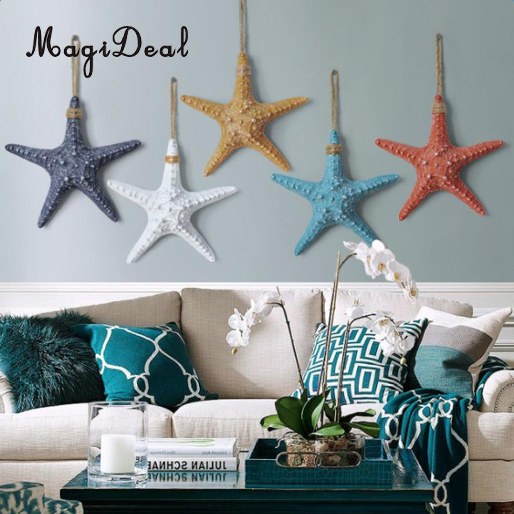 Us 11 91 19 Off Sea Themed Ocean Style Nautical Beach Starfish Wall Hanging Door Wall Decor Crafts Photography Props Diy Home Decor In Wind Chimes