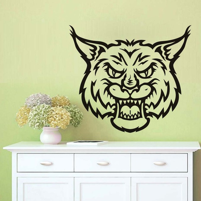 Wall Decals Tigers Head Waterproof Vinyl Removable Wild Cat Jungle ...