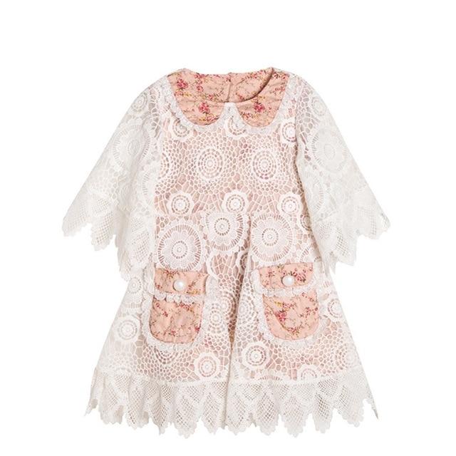 Everweekend Sweet Princess Girls Ruffles Party Dress Sleeve