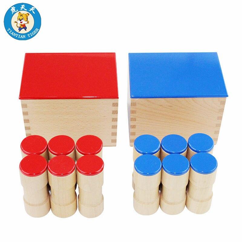 Montessori jouets sensoriels matériel éducatif pour enfants matériel d'enseignement préscolaire boîtes à sons