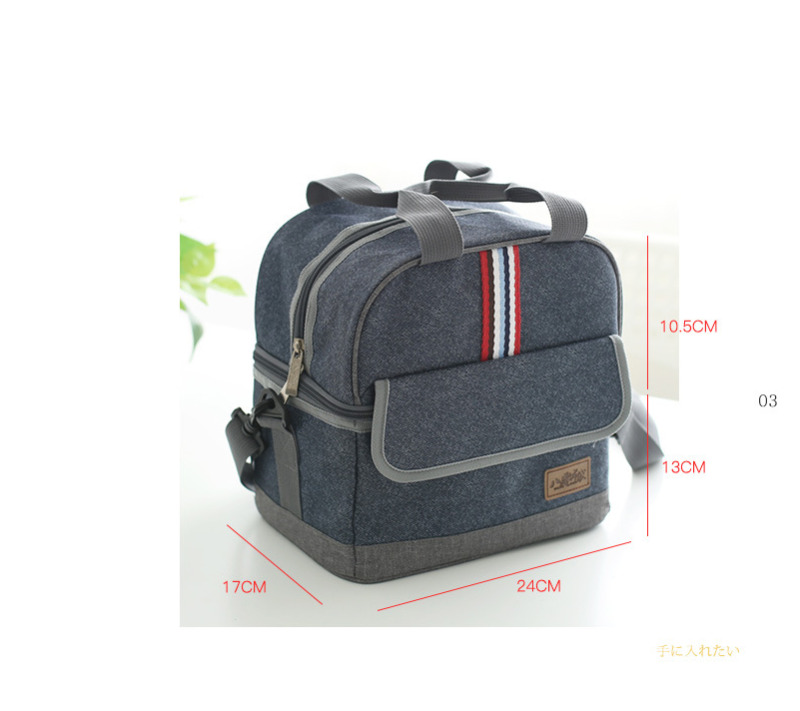 Insulated Oxford Lunch Bag For Women Men Kids Thermos Cooler Adults Tote Food Lunch Box in Lunch Bags from Luggage Bags