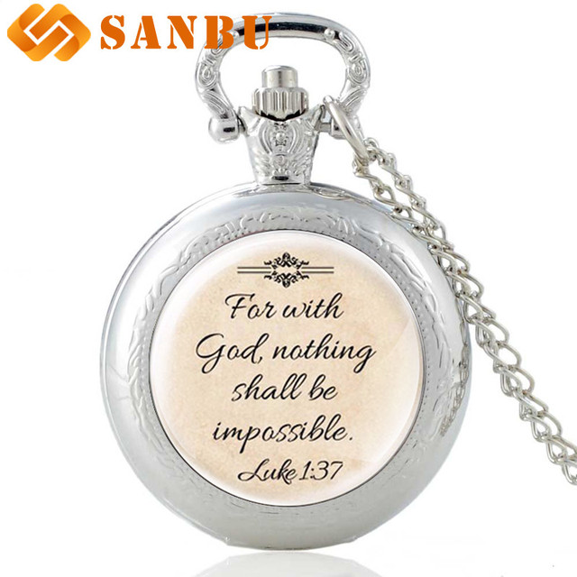 Newest Design Jesus Necklace 'Faith With God Nothing is Impossible' Words Pendan