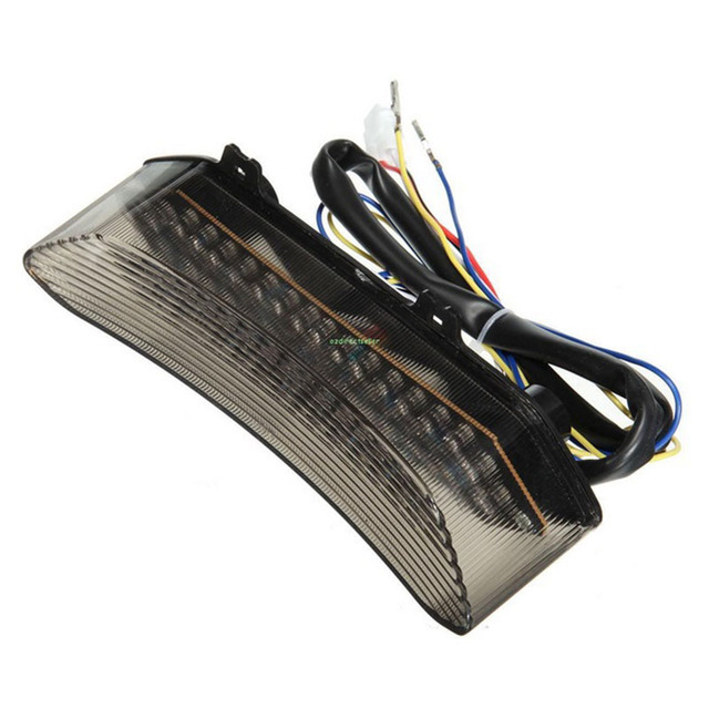 חדש אופנוע עשן Led בלם איתות זנב אור משולב עבור ימאהה YZF R1 02-03