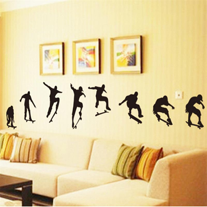 Parkour Pose Handstand Wall Stickers Free Running Tracers Jump ...