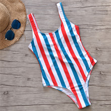 Striped Swimwear One Piece Swimsuit PU27