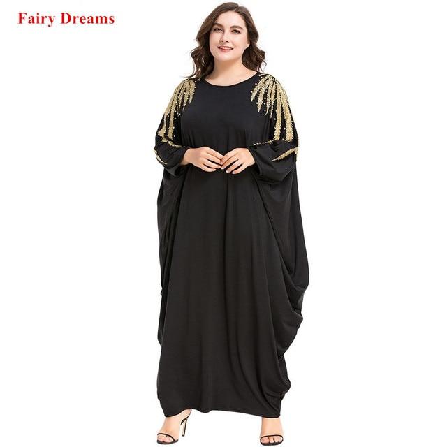 b686db525bf327 Zwarte Abaya Kralen Vrouwen Islamitische Kleding Moslim Lange Mouwen Maxi  Jurk Lente Herfst Kaftan Dubai Maleisië