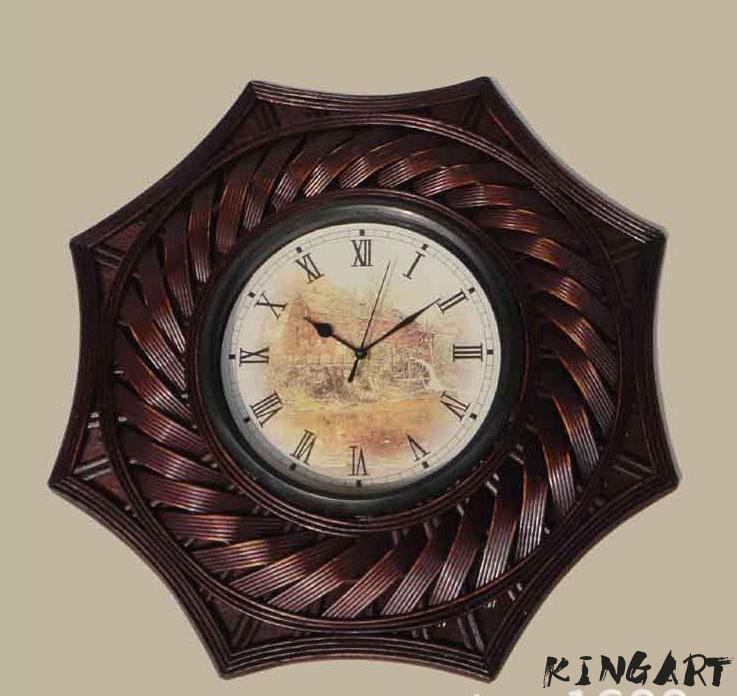 Grand rétro Simple Design bambou horloge murale salon mur montre créative étude temps Bar horloge murale meilleur pour la décoration de la chambre