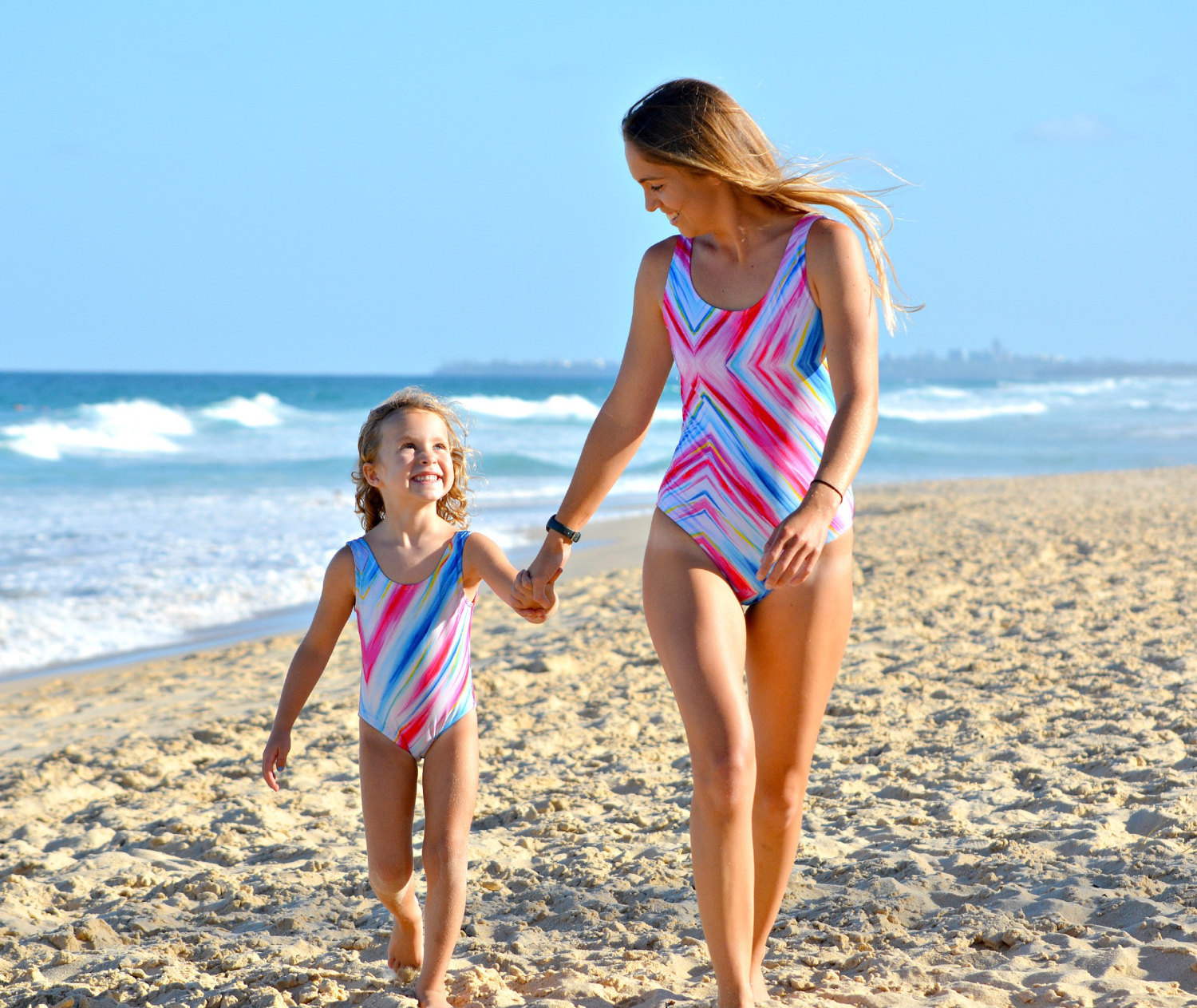 One Piece Mother Daughter summer swimming suit