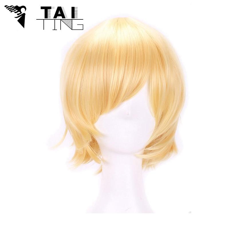 Harajuku Cosplay Wig Anime High Quality Blond Synthetic