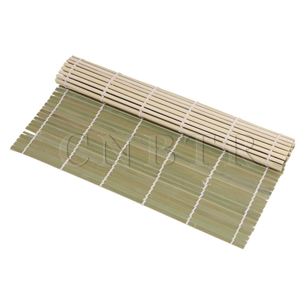 BQLZR 5 x Sushi Maker Bamboo Rolling Mat 24x24cm Green for DIY Japanese Food sushi mold diy