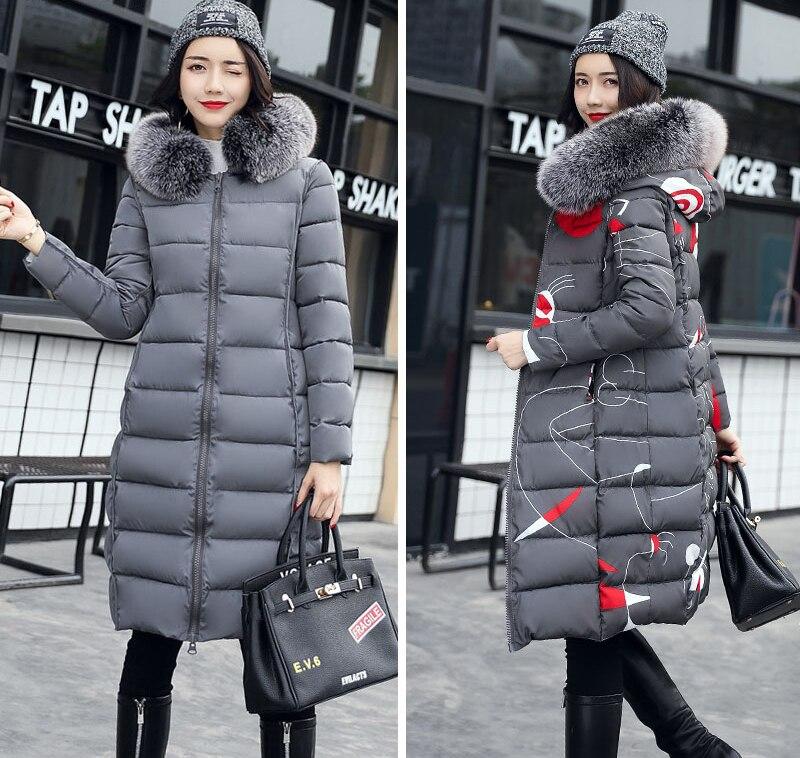 19 winter women hooded coat fur collar thicken warm long jacket female plus size 3XL outerwear parka ladies chaqueta feminino 14
