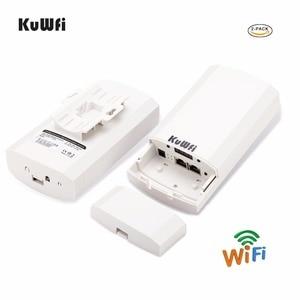 Image 1 - 1KM 2pc 2,4 Ghz 300Mbps p2p Outdoor Wireless CPE Brücke Router Unterstützt WDS Funktion Keine einstellung mit led anzeige