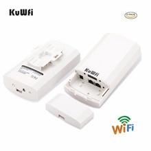 1KM 2pc 2.4Ghz 300Mbps p2p extérieur sans fil CPE pont routeur prend en charge la fonction WDS aucun réglage avec affichage de LED