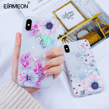 EIRMEON Silicone Case For iPhone 6 6S Plus 3D Relief Soft TPU Cases Back Cover 5 5S SE 7 8 X XR XS Shell Capa