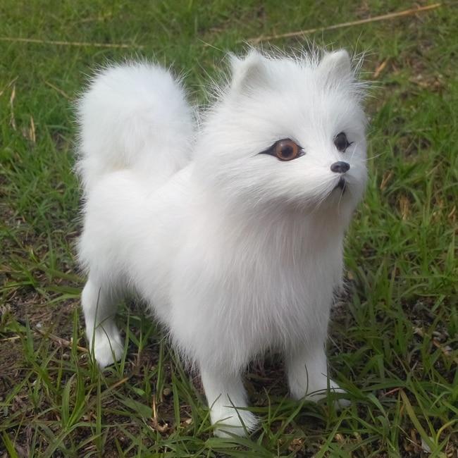 16x15cm samoyed dog polyethylene amp furs resin furry dog
