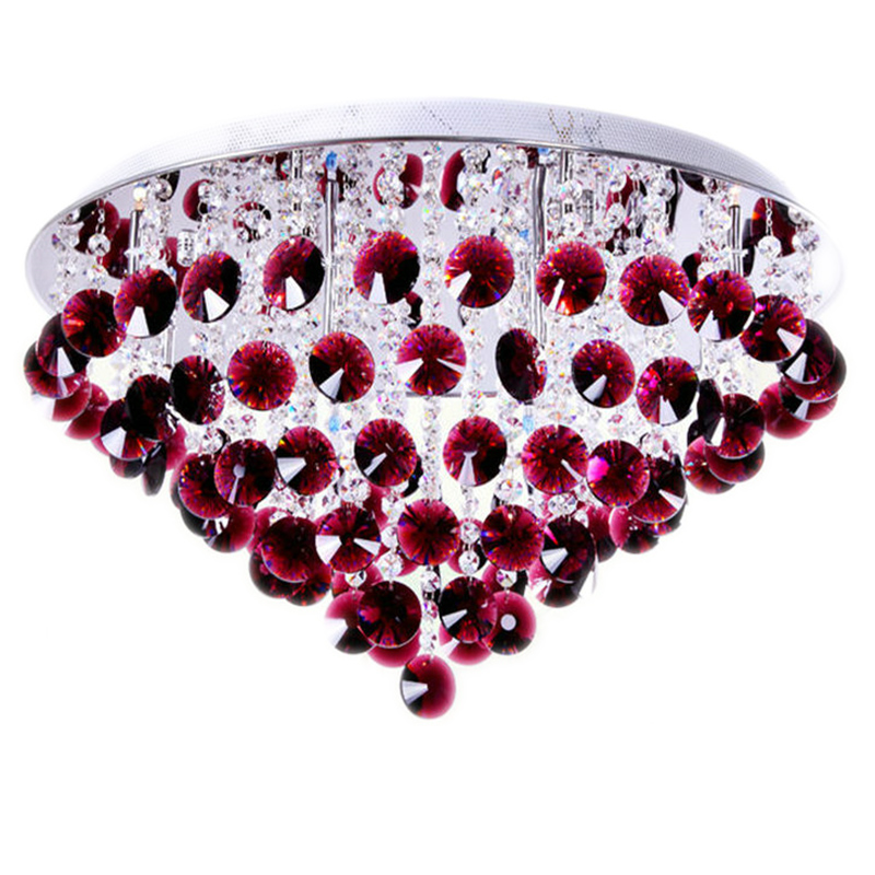 LED crystal ceiling lamps simple modern living room dining room bedroom pastoral red romantic warm LED ceiling light ZA9064 modern simple oval bedroom lighting living room crystal ceiling lamp creative restaurant dining room led crystal hanging lamps
