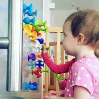 16-48 шт./компл. поп маленькие присоски собранные присоски Обучающие строительные блоки игрушки для девочек и мальчиков детские подарки забав...