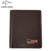 Kangaroo Kingdom Famous Brand Men Wallets Genuine Leather Wallet Purse Short Design Casual Pocket Wallet