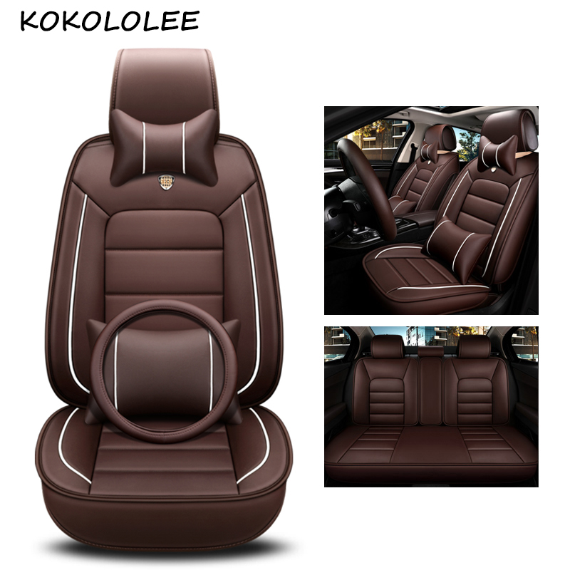 kokololee pu leather car seat cover For chevrolet spark fiat 500x vw polo suzuki swift bmw f30 g30 car styling auto accessories luxury leather car seat cover for auto mercedes w212 bmw f30 vw tiguan golf polo bmw g30 skoda cars accessories car styling