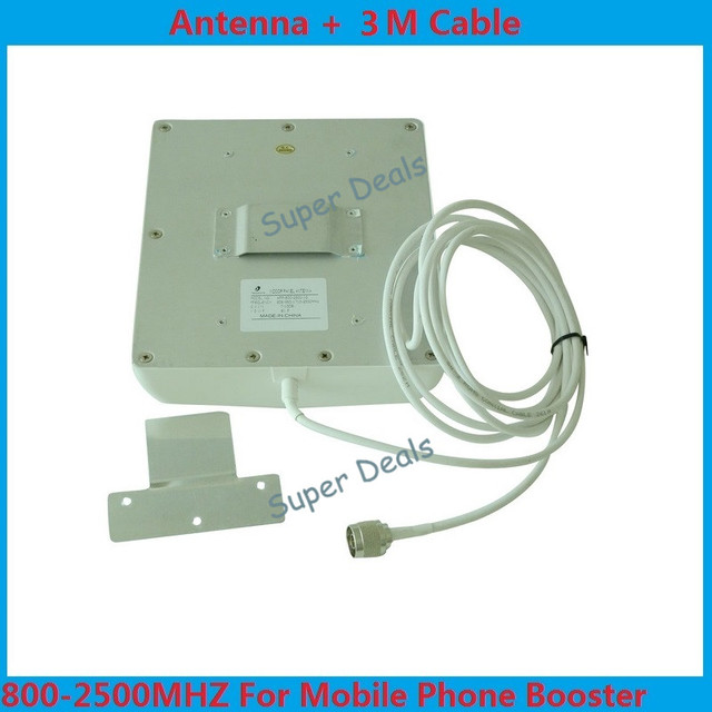 2G/3G CDMA / GSM / 3G 800MHz to 2500MHz 8dBi cellphone mobile phone signal indoor wall booster antenna with 3 meters cable