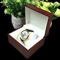 Caixa de Relógio de Madeira Com Pacote Travesseiro Caixa de Moda de luxo Vermelho relógios de Pulso Caixa de Exibição de Armazenamento De Caixas de Jóias de Presente Requintado