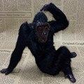 Игрушечная обезьянка  для рукоделия  из пластика и меха  подарок  20x15 см  1433