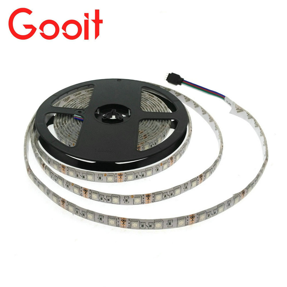 LED Strip 5050 DC 12V Flexibel LED-lampa 60 LED / m 5m / lot RGB / vit / varm vit / röd / grön / blå 5050 LED Strip