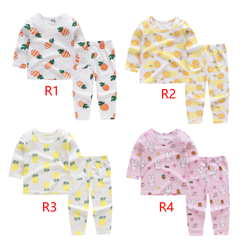 Lovely   pajamas     set   for girls children's sleepwear   set   in air conditioning room light and breathable suit for summer