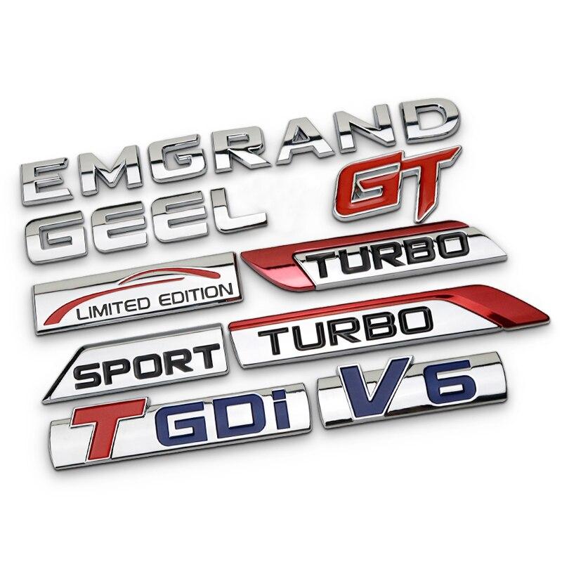 1x Metal Matte Black Huge V6 Emblem Sticker Badge Sport Engine Logo Turbo Motors