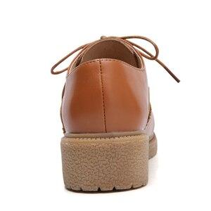 Image 5 - حذاء نسائي من JZZDDOWN حذاء أكسفورد من الجلد الأصلي للسيدات حذاء نسائي من الجلد حذاء نسائي فاخر من الجلد