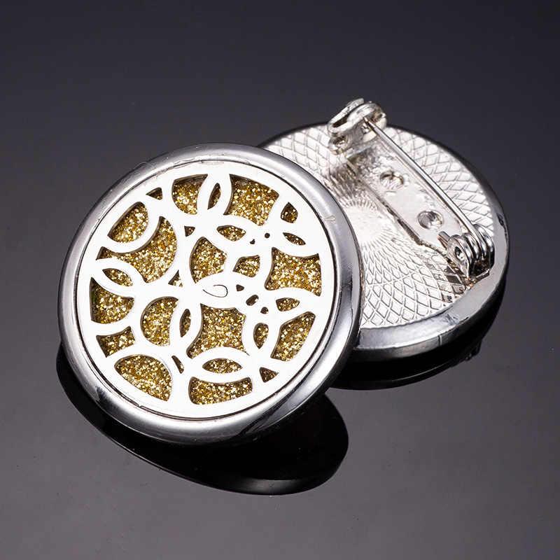 Rozpylacz zapachów drzewo życia słoń broszka ze stali nierdzewnej perfumy olejek dyspergator medal broszka wysłać 1 cekiny P18