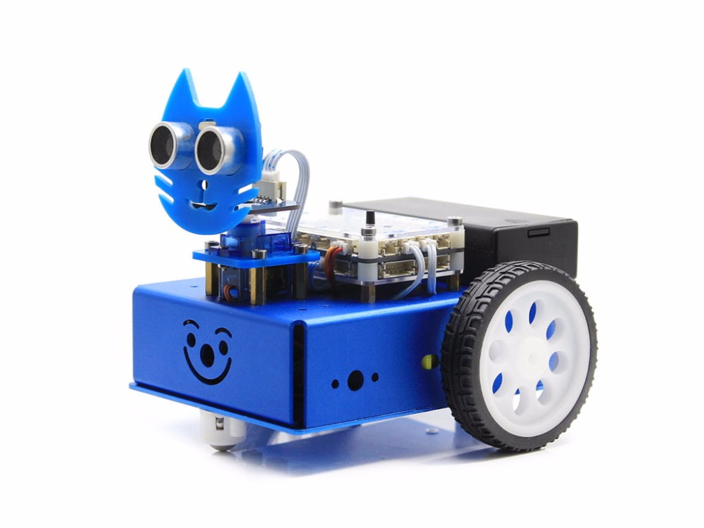KitiBot-MG-T (EN) Starter Robot Building Kit Mega2560 Controller Board for Kids Graphical Programming 2 Wheel Drived Version paul robot manipulators mathematics programming