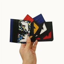 Echt Leder Karte Brieftaschen Herrenbrieftasche Frauen Kleine Kreditkarte brieftasche Mini Kleine Monster Ultral Dünne Geld Tasche ID Fall geldbörse