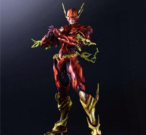 The Flash Action Figure Play Arts Kai Flash Justice League Barry Allen 250MM Anime Movie The Flash Playarts Kai Superhero Doll 25cm the flash action figure play arts dc justice league pvc kids gift toy doll anime movie model movable cosplay collection