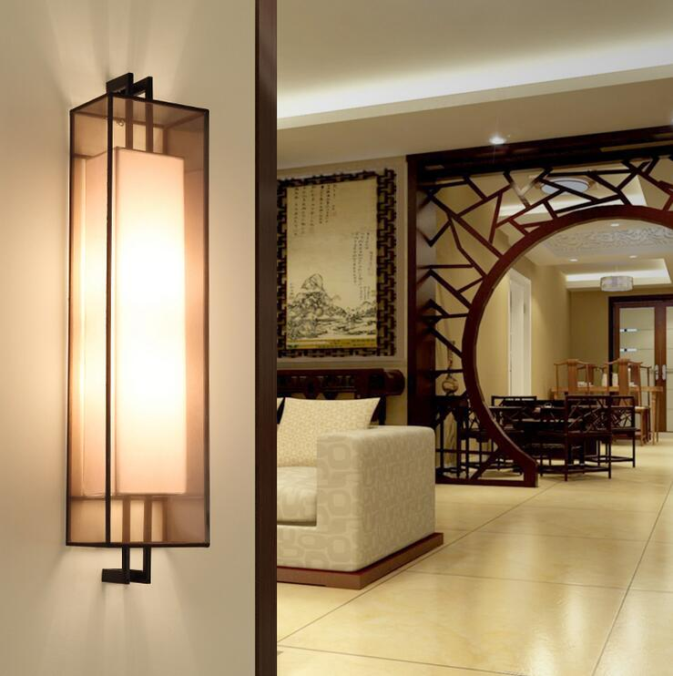 Lighting Basement Washroom Stairs: Modern Chinese Style Hotel Lamp Wall Lamps Room Bedroom